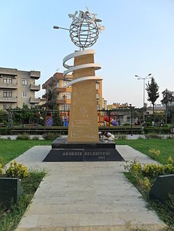 Hrant Dink Peace Monument in Mersin, Turkey