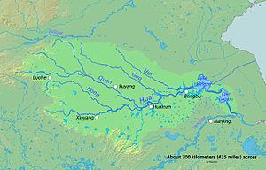Huai River - Image: Huairivermap