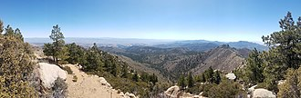 Hualapai Peak - Picture taken of the surrounding landscape from near the summit of Hualapai Peak in Arizona.