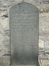 Huw Morus gravestone.JPG