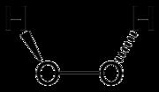 formula di struttura del perossido di idrogeno