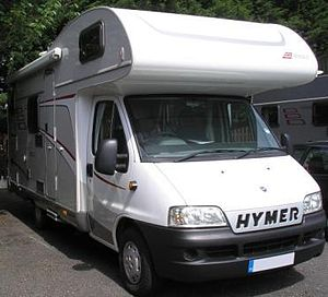 Motorhome - A coachbuilt Hymer motorhome
