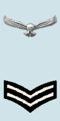 Shoulder Rank Patch of the Corporal of the Indian Air Force
