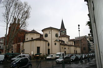 Mozart in Italy - San Marco monastery, Milan, where the Mozarts lodged during their first visit to the city