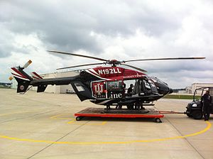 Purdue University Airport - Image: IU Health Life Line EC 145 Helicopter