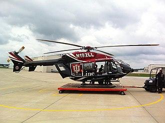 Purdue University Airport - Image: IU Health Life Line EC 145 Helicopter