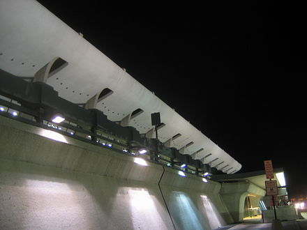 Dulles airport's terminal exterior - Washington Dulles International Airport