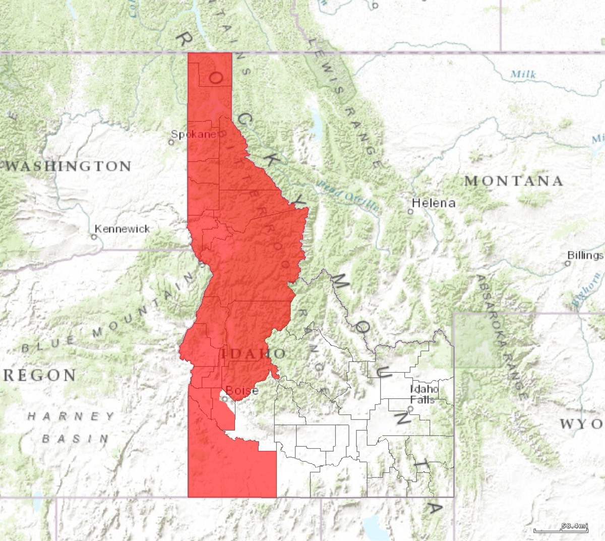 Idahos St Congressional District Wikipedia - Idaho political map