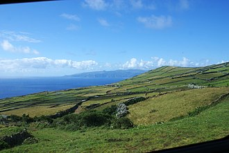 Corvo Island - The view of the pasturelands of Zimbral