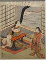 Illustration of a Poem by Kakinomoto no Hitomaro, by Suzuki Harunobu, Edo period, 18th century - Tokyo National Museum - DSC06276.JPG