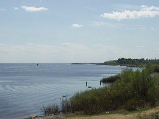 Lake Ilmen lake in Novgorod Oblast, Russia
