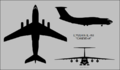 Ilyushin Il-76T Candid-A three-view silhouette.png