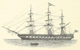 HMS Cornwallis (1805) - Image: Image taken from page 52 of 'Ædes Hartwellianæ, or notices of the Mansion of Hartwell. (Addenda, etc.) (With plates.)' (11035393025)