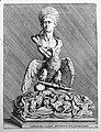 Imperatoris Claudii apotheosis, sive consecratio - Buste avec aigle - Estampe Coste 13614.jpg