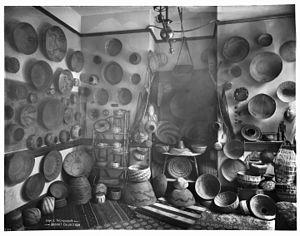 Grace Nicholson - Indian basket collection of Miss Grace Nicholson, ca.1900 (CHS-2139)