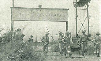 Indonesian Marine Corps - Indonesian Navy Commandos (KKO Marines) occupying Langowan Airfield circa 1960s