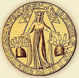 Ingiburga of Sweden (daughter of Hacon) seal 1318 (1).jpg