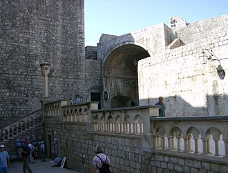 The Old Gods and the New - The riot was filmed by the Pile Gates, at the main entrance to Dubrovnik's old city.