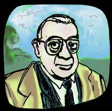Horst Tappert in una caricatura