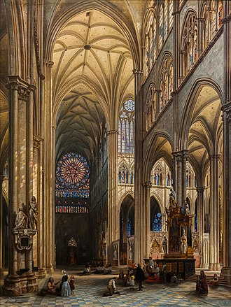 Jules Victor Génisson - Interior of the Cathedral of Amiens, 1842, now in the Pinacoteca do Estado de São Paulo