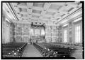 Interior looking south - First Presbyterian Church, 154 Fifth Avenue, Nashville, Davidson County, TN HABS TENN,19-NASH,13-6.tif