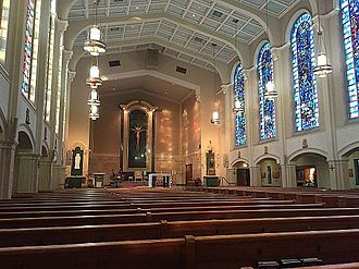 Cathedral of Saint Peter (Rockford, Illinois) - Interior of the Cathedral of St. Peter