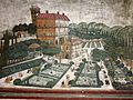 Interior wall painting on palace of Arki, capital of earstwhile Bhagal princely State,Himachal Prades, India 07.jpg