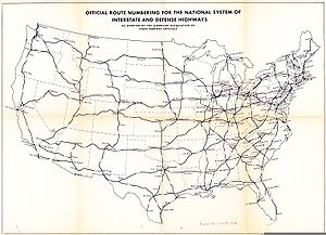 List Of Highways Bypassed By Interstate Highways Wikipedia - Us highway map 1960