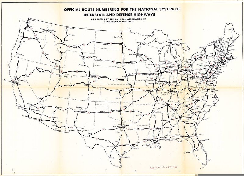 1958 United States Highway Map