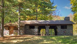 Interstate Park - 1938 Shelter/Refectory built by the WPA