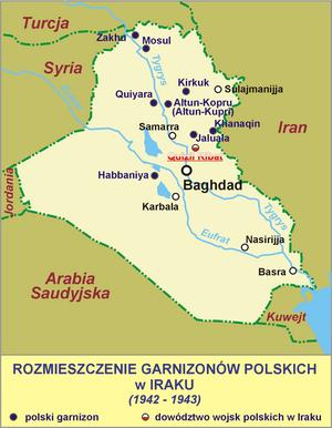 Polski: Rozmieszczenie garnizonów polskich w I...
