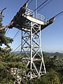 Iron tower of Senkojiyama Ropeway near Path of Literature in Senkoji Park.jpg