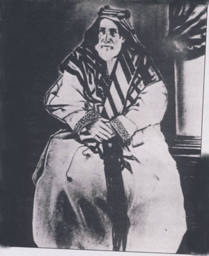 History of Bahrain (1783–1971) - A portrait of Isa ibn Ali Al Khalifa, date unknown.