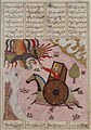 Isfandiyar Attacks the Simurgh from an Armored Vehicle, page from a Manuscript of the Shahnama (Book of Kings) of Firdawsi LACMA M.73.5.410.jpg