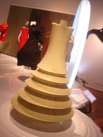 Issey Miyake - An Issey Miyake gown on display in Florence, Italy, in 2007.