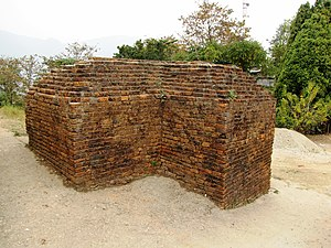 Ita Fort - A brick wall at the southern gate.