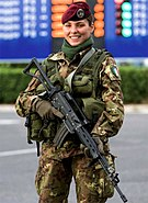 Italian Soldier Olypmic Games Turin 2006