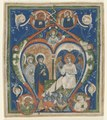 Italy, Siena, 13th century - Initial A ngelus Domini descendit from an Antiphonary- The Three Marys at - 1952.232 - Cleveland Museum of Art.tif