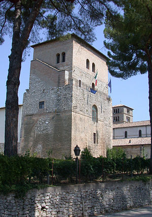 Farfa Abbey - Abbey's tower.
