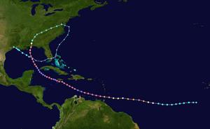 Hurricane Ivan tornado outbreak - Track of Hurricane Ivan