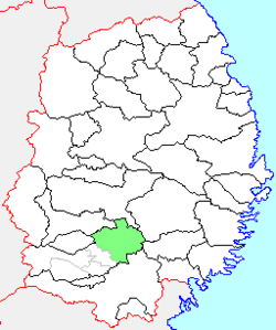 Location of Esashi in Iwate Prefecture