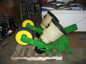 "Planter (farm implement) - A two row planter featuring John Deere ""71 Flexi"" row units"