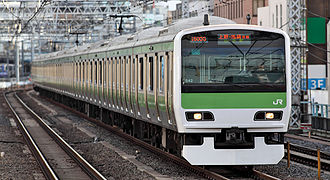 E231 series - Yamanote Line 11-car E231-500 series in March 2009