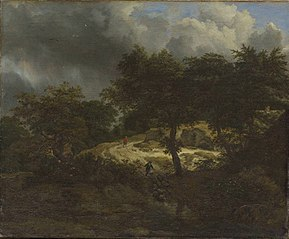 Wooded Landscape with Oncoming Storm