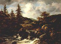 Jacob van Ruisdael - Wooded Landscape with Waterfall (Raleigh, NC).jpg