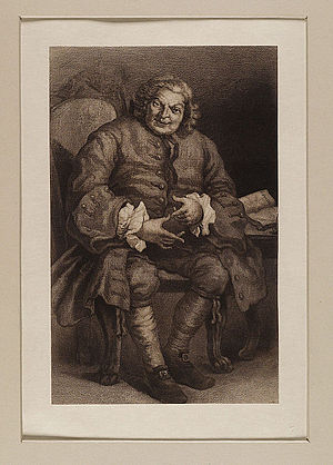 Lord Lovat - Simon Fraser, 11th Lord Lovat. Engraving c. 1715