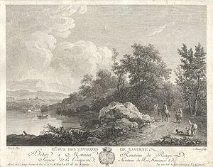 Jacques Aliamet - Vue des environs de Saverne