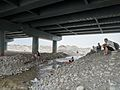 Jade collecting under Yurungkash River Bridge in Hotan.jpg