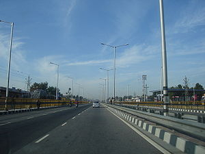 Economy of Rajasthan - A section of National Highway 48 in Rajasthan.