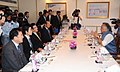 Jairam Ramesh with the Minister of Environment, Japan, Mr. Sakihito Ozawa and the Ambassador of Japan to India, Mr. Hideaki Domichi at a meeting, in New Delhi on October 19, 2009.jpg